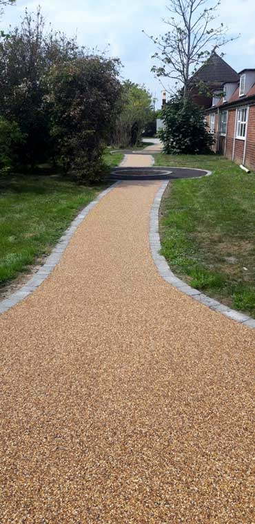 Resin Pathways in great yarmouth for school