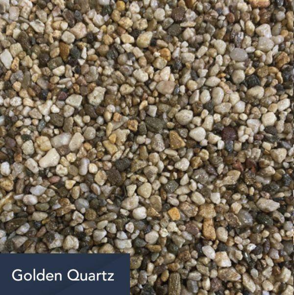 golden quartz aggregate
